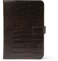 Crocodile-Embossed Leather iPad Mini Case