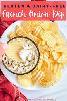 This homemade gluten-free onion dip can be made lactose free or dairy-free, with tasty caramelized onions, too! No spice packets here. #glutenfree #dairyfree #oniondip Dairy Free Appetizers, Dairy Free Snacks, Gluten Free Recipes For Breakfast, Appetizer Recipes, Gluten Free Sauces, Gluten Free Sides Dishes, Homemade Onion Dip, Cold Dip Recipes, Dry Soup Mix