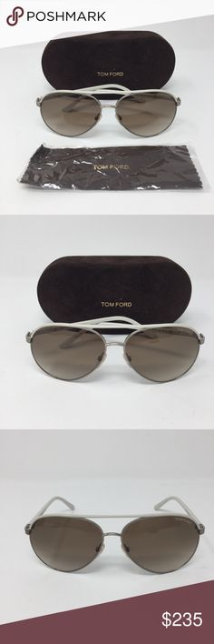 TOM FORD BEIGE SILVANO AVIATOR SUNGLASSES Authentic like new Tom Ford Silvano Sunglasses. TF112 32N. Includes case and wipe cloth. Brown polarized lenses. Matching brow bar and temples maintain sleek lines of classic aviator sunglasses with a smart, double-bridge design. Adjustable nose pads provide comfortable, no-slip wear. 59mm lens width; 13mm bridge width; 135mm temple length. 100% UV protection. ❌❌NO TRADES NO PP NO EXCEPTIONS❌❌ Tom Ford Accessories Sunglasses