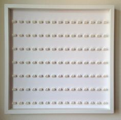 105 Lego Minifigures white frame display – Lego Minifigures Display