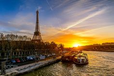 """Sunset on the Seine Go to http://iBoatCity.com and use code PINTEREST for free shipping on your first order! (Lower 48 USA Only). Sign up for our email newsletter to get your free guide: """"Boat Buyer's Guide for Beginners."""""""
