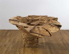 "Ursula von Rydingsvard ""Exploding Bowl,"" Cedar, 32 x 56 x 55 inches. © Ursula von Rydingsvard, courtesy the artist and Galerie Lelong, New York. Wood Pallets, Pallet Wood, Wood Laminate, Wood Pieces, Land Art, Ursula, Wood Sculpture, Artist At Work, Sculptures"