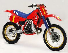 1987 Japanese Factory Honda CR250M - I prefer it with a red seat and gaters, but looks awesome original
