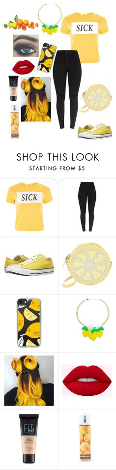 """""""Sick AF"""" by dumb-ass-cactus ❤ liked on Polyvore featuring The Ragged Priest, Converse, Kate Spade, Casetify, Maybelline and Nicole Miller"""