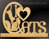 Scroll Saw Patterns :: Miscellaneous :: 'I Love' projects -