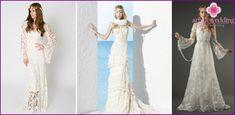 Hääpukuja boho tyylillä - vinkkejä valitsemaansa suosittuja malleja ja tyylejä kuvia