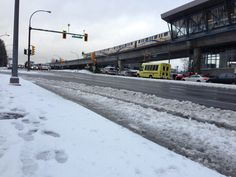 Traffic along Lougheed Highway during Tuesday morning's rush hour was frightful, as snow and ice made driving very tough. Rush Hour, Tuesday Morning, Snow And Ice, Big, Outdoor, Outdoors, Outdoor Games, The Great Outdoors
