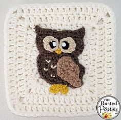 Ravelry: Owl Applique pattern by Lisa Rode
