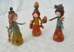 Oak Folk Elves Fairies Pixies Needle Felted Waldorf Play ScapePlay Mat Play items