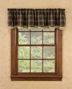"""Fly Fishing Lined Layered Curtain Valance 72"""" x 16"""""""