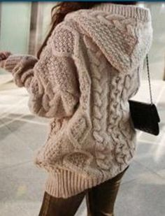 Hooded Long Sleeve Cardigan