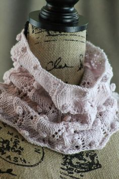 Cherry Blossom Cowl Balls to the Walls Knits, A collection of free one- and two- skein knitting patterns
