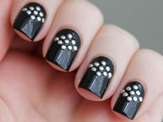 Here are the 9 Best Studs Nail Art Designs that you will be inspired to get one for yourself. Get Nails, Love Nails, Pretty Nails, Hair And Nails, Colorful Nail Designs, Cool Nail Designs, Mode Statements, Finger, Studded Nails