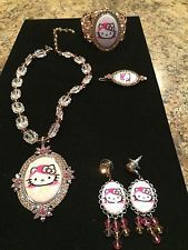 Unique Jewelry - Tarina Tarantino Hello Kitty Crystal Jewelry - Necklace Bracelet Earrings Pin