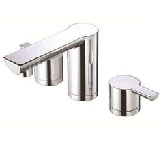 Danze Widespread Bathroom Faucet from the Adonis Collection (Valve Incl Chrome Faucet Lavatory Double Handle Widespread Bathroom Faucet, Lavatory Faucet, Bathroom Faucets, Bathroom Hooks, Modern Bathroom, Modern Faucets, Kitchen And Bath, Chrome, Handle