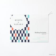 和コレクション招待状 タイヨウトツキ 藍色写真01