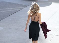 My favorite day to night look of late features a modern slip dress and long cardigan. A perfect combination for work that easily transitions to evening...