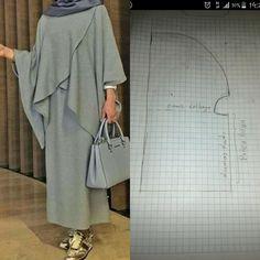 Best 11 Cape pattern – Page 543387511291365632 Pakistani Fashion Casual, Iranian Women Fashion, Abaya Fashion, Frock Patterns, Tunic Sewing Patterns, Clothing Patterns, Yellow Evening Dresses, Hijab Evening Dress, Abaya Pattern