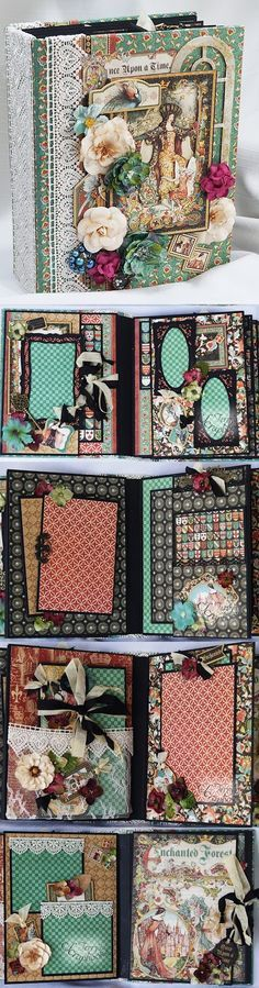 Terry's Scrapbooks: Graphic 45 Enchanted Forest Mini Album Country Cra...