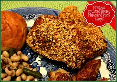 Sweet Tea and Cornbread: Pretzel Crusted Honey Mustard Pork Chops!