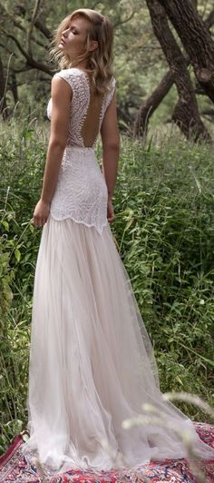 Featured Dress: Limor Rosen; Wedding dress idea. #bohoweddingdresses