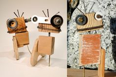 Designed by young Cape Town-based industrial designer Jasper Eales, these wooden Raw-bots are made from scrap and raw pieces of wood.