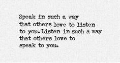 speak // listen