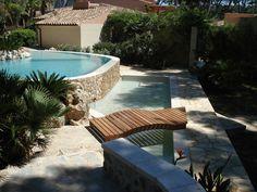 Piscinas ovalada en Formentor. Mallorca www.piscinasmallorca.es Patio, Outdoor Decor, Home Decor, Balearic Islands, Pools, Majorca, Decoration Home, Terrace, Room Decor