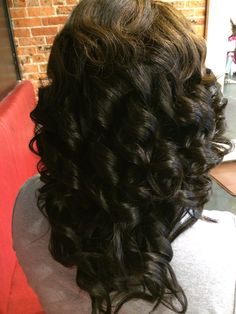 """Full Extensions Installment w/3 bundles of hair...styled """"Fully Shirley Temp Curl"""""""