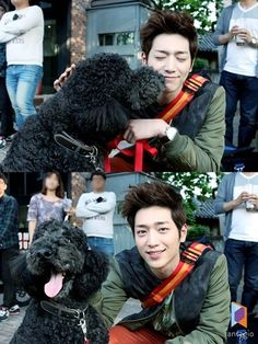 Seo Kang Joon Makes a New Friend on the Set of a Commercial