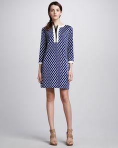 Achelle Printed Shift Dress by Diane von Furstenberg at Neiman Marcus.