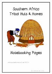 African huts printable
