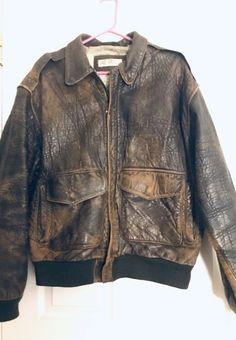 Vtg Marcel Kassini Mens Leather Bomber Jacket Size M Mens Leather Bomber Jacket, Shearling Jacket, Suede Leather, Leather Men, Black Leather, Marcel, Vintage Outfits, Blazer, Suits