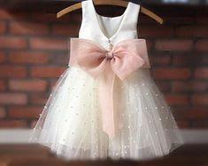 Flower Girl Robes, Blush Flower Girl Dresses, Tulle Flower Girl, Blush Dresses, Princess Flower, Flower Girls, Pink Dress, Girls Pageant Dresses, Frocks For Girls