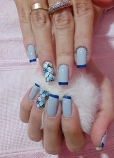 148 fotos de unhas decoradas com flores! Pedicure Colors, Pedicure Designs, Manicure And Pedicure, Pedicure Ideas, Nail Art Design Gallery, Nail Art Designs, Love Nails, Fun Nails, Glitter Gel Polish