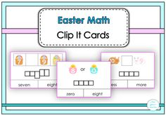 $ Easter Math Clip It Cards