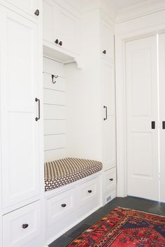caravan decor 453808099936530823 - Lockers for kiddos Source by rellisj Metal Barn Homes, Metal Building Homes, Building A House, Mudroom Cabinets, Pole Barn House Plans, Hallway Designs, Vestibule, New Homes, House Design