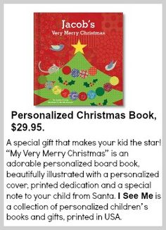 I See Me Personalized Christmas Book. Made in America.