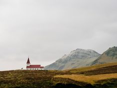 church in Vik Iceland. Visiting the Black Sand Beach in Vik Iceland. What to see in Vik Iceland! - Avenly Lane Travel