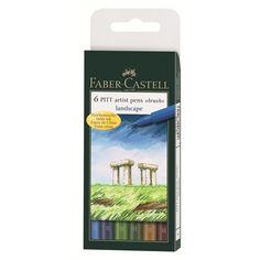 """Tuschestift PITT artist pen B 6er Etui """"Landscape"""" Ca. 16,00€"""