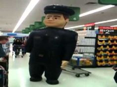 Walmart Pharmacy Security Officer friendly inflatable robot cop