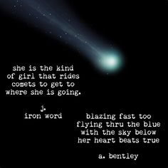 Impromptu poetry collaboration with the talented J. Iron Word. If you don't follow him already check out his other writings @j.ironword #comet #comets #poetry #poems #poem #wordart #words #girl #girls #writer #writers #poetsofinstagram #poets #collab #collaboration #art #instart #freedom #independent #independentwoman
