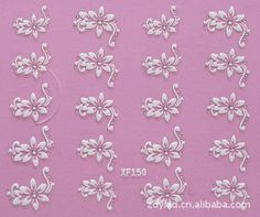 3D flower design Water Transfer Nails Art Sticker decals lady women manicure tools Nail Wraps Decals wholesale >>> You can get additional details at the image link.