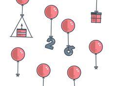 birthday bits & balloons by Jenelle Huddleston