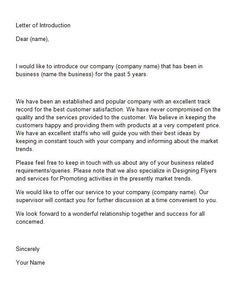 Letter of Introduction Template 15