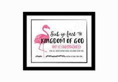 Kids Bible verse print. Seek ye first the Kingdom by PrintsofLife