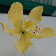 Handmade Yellow Cymbidium Orchid | Handmade gumpaste flowers… | Flickr