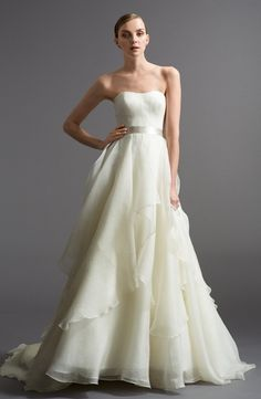 Sweetheart A-Line Wedding Dress  with Natural Waist in Silk Organza. Bridal Gown Style Number:32975609