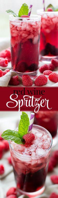 (Msg 4 21+) Red Wine Spritzer - JenniferMeyering.com #WaterMadeExciting #ad