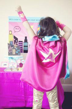 Girly superhero party